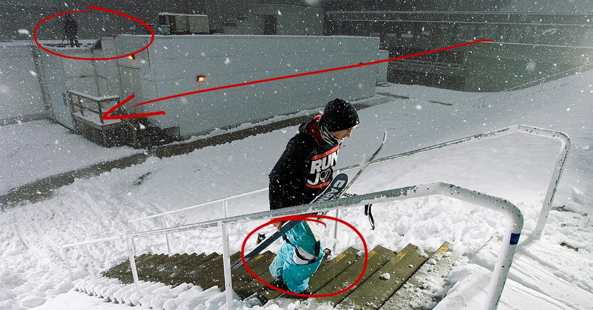 Behind the Shot: Urban Storm Skiing