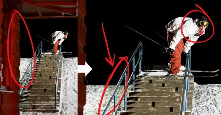 Behind the Shot: Urban Skiing with Coloured Flash Gels