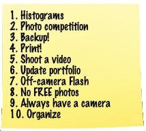 10 New Years Resolutions for Photographers