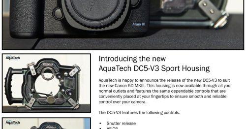 Aquatech Launches Canon 5D Mark 3 Water Housing