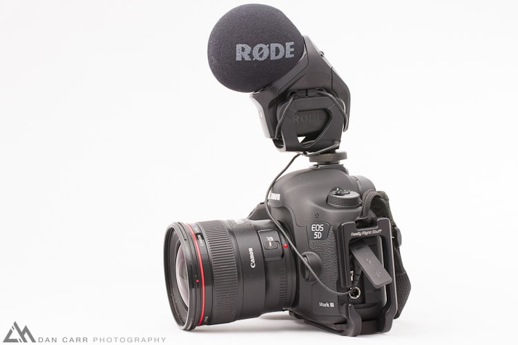 Rode Stereo Videomic Pro on a Canon 5d Mark 3