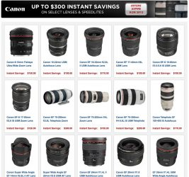 Canon Posts September Rebates – Valid Until 29th – Save Up To $300