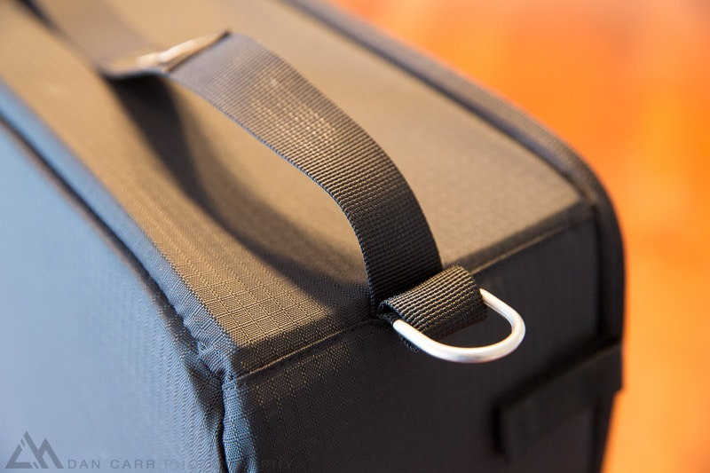 New metal D-rings for strap attachment