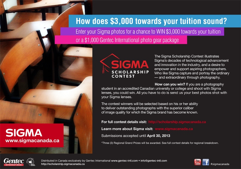 Sigma Canada To Give Away Thousands of Dollars in Prizes
