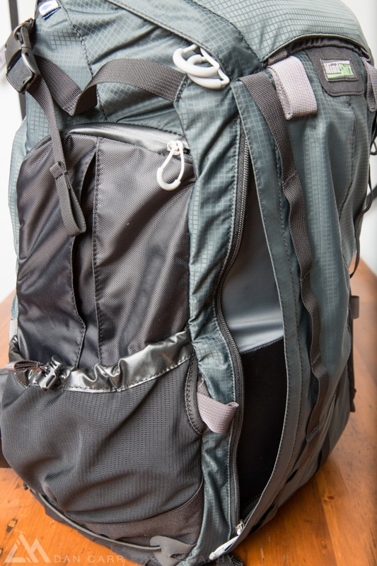 Full length zippered pocket on the front expands easily to fit extra clothing layers.