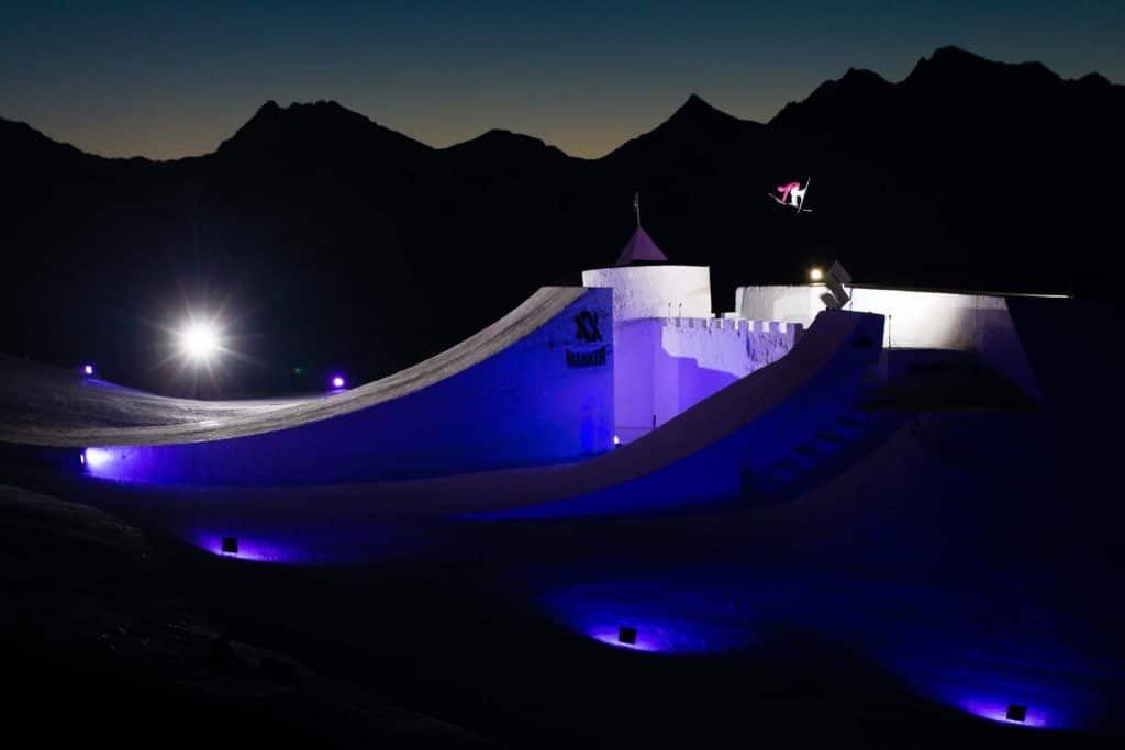 the sunset / night session on the jump