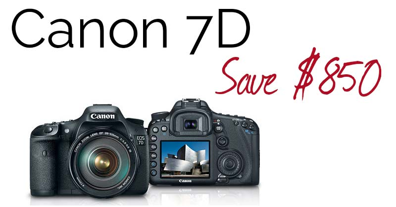50% Discount on Canon 7D!!