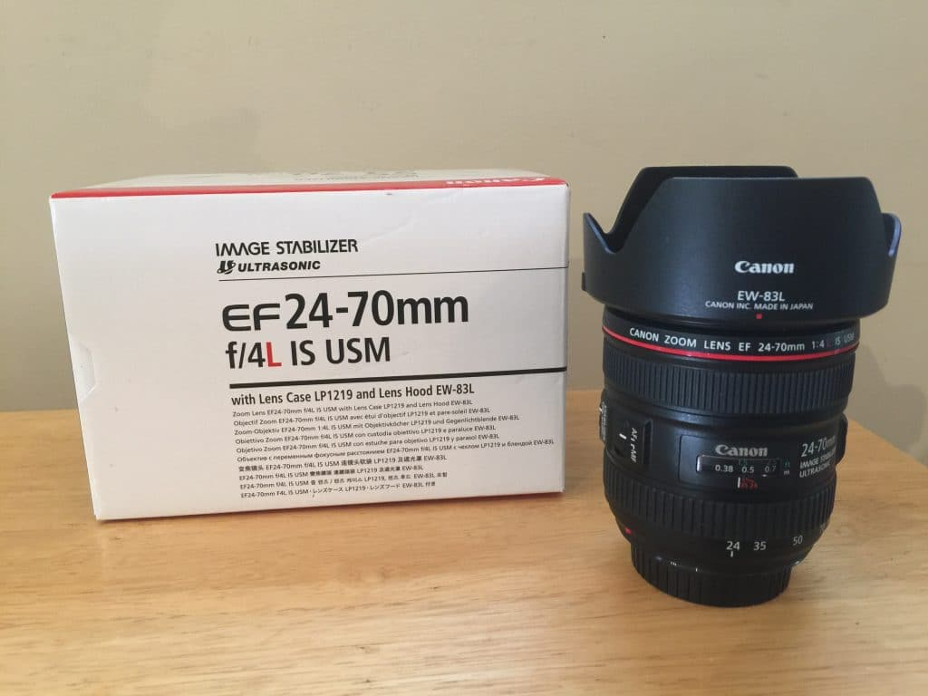 SOLD. Canon 24-70 f/4 L IS – As New
