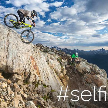 Extreme Mountain Bike Self Portrait