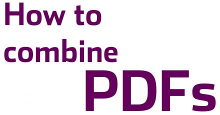 How to combine PDFs on a mac