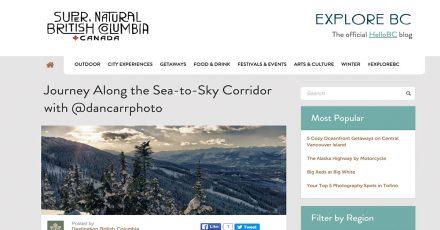 Destination British Columbia Instagram Takeover
