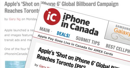 iPhone In Canada Blog Mention