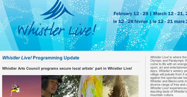 Image Displays in Whistler During the Winter Olympics