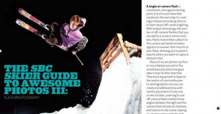 Photography Tips for Skier Magazine