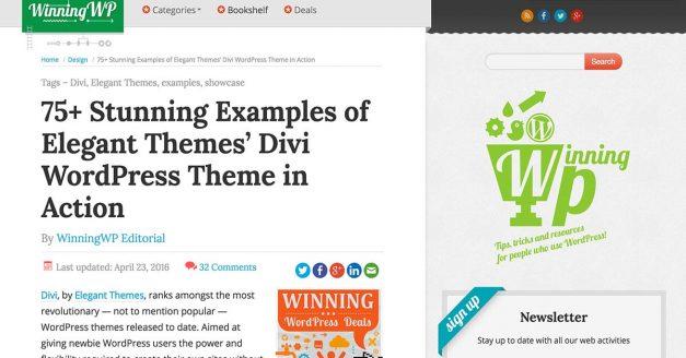 Best Divi Site Designs Feature on Winning WP