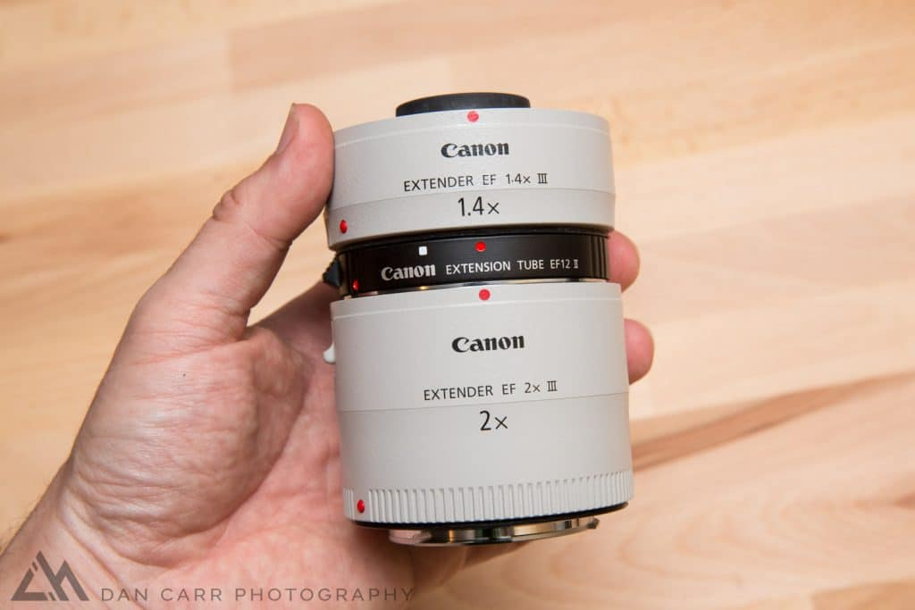 12mm extension tube used for stacking Canon extenders together.