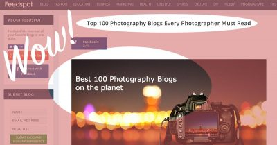My Site Is in the Top 100 Photography Blogs!