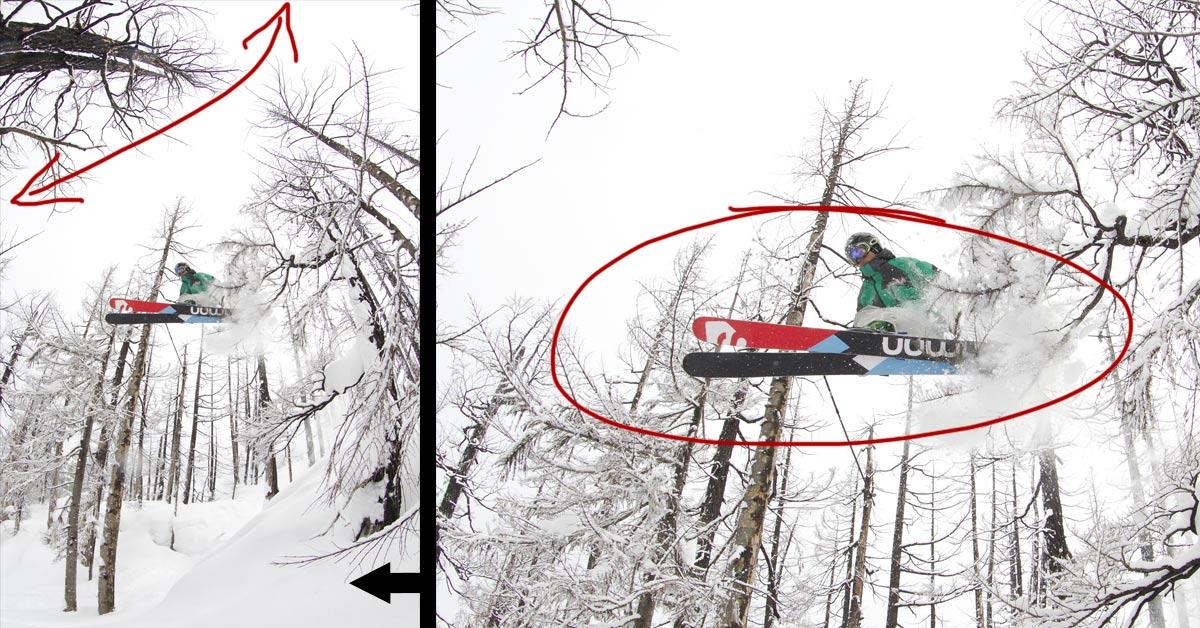 Behind the Shot: Snowy Skiing Fisheye