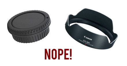 Shedding Pack Weight: Bye Bye Lens Hoods