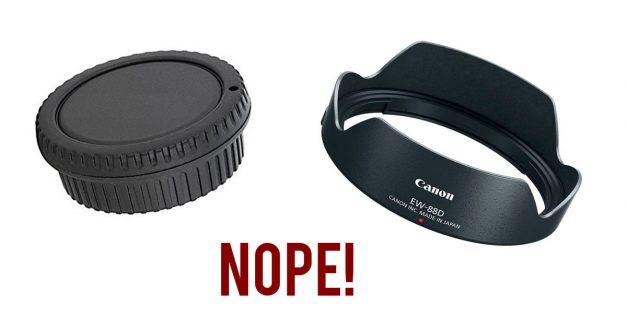 Shedding Pack Weight: Bye Bye Lens Hoods