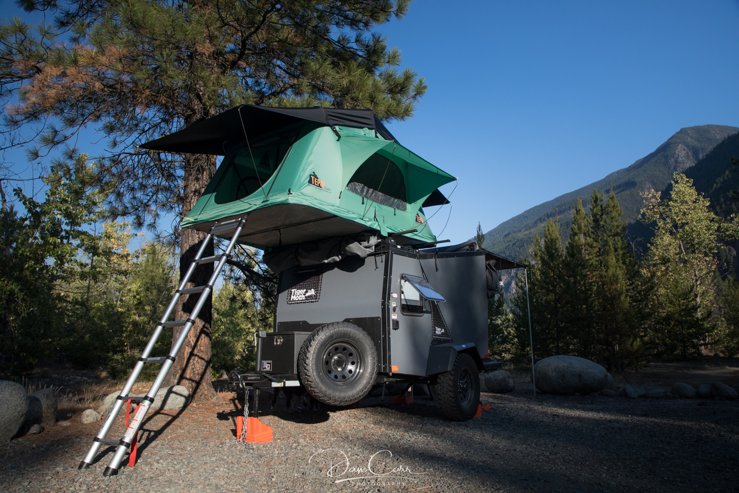 Taxa Tigermoth trailer with Tepui rooftop tent