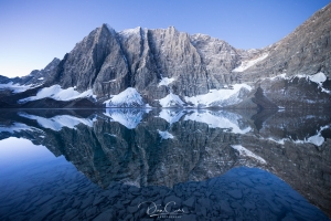 Floe Lake in Kootenay National Park, British Columbia.