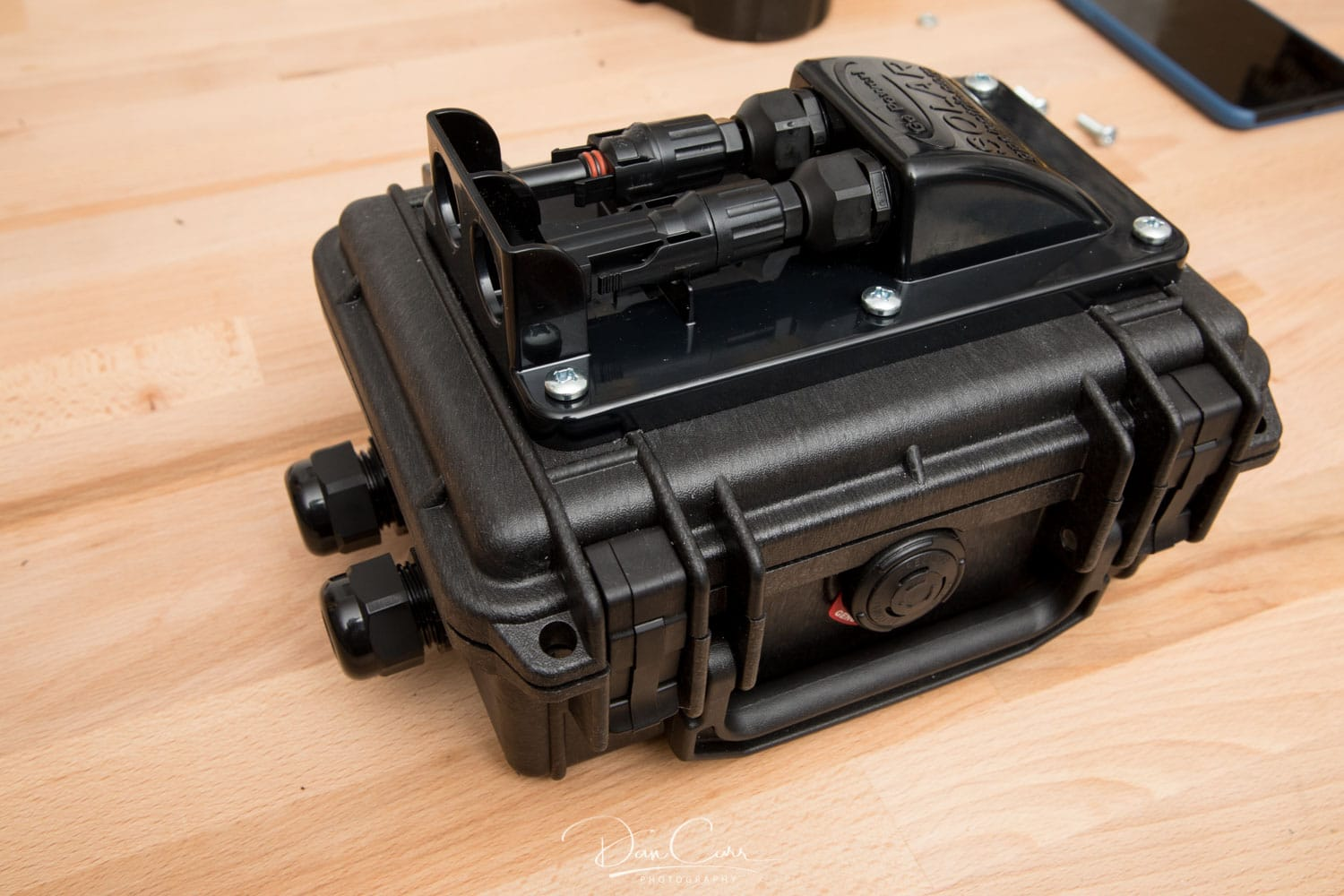 Building A Solar Junction Box From A Pelican Case For Goal