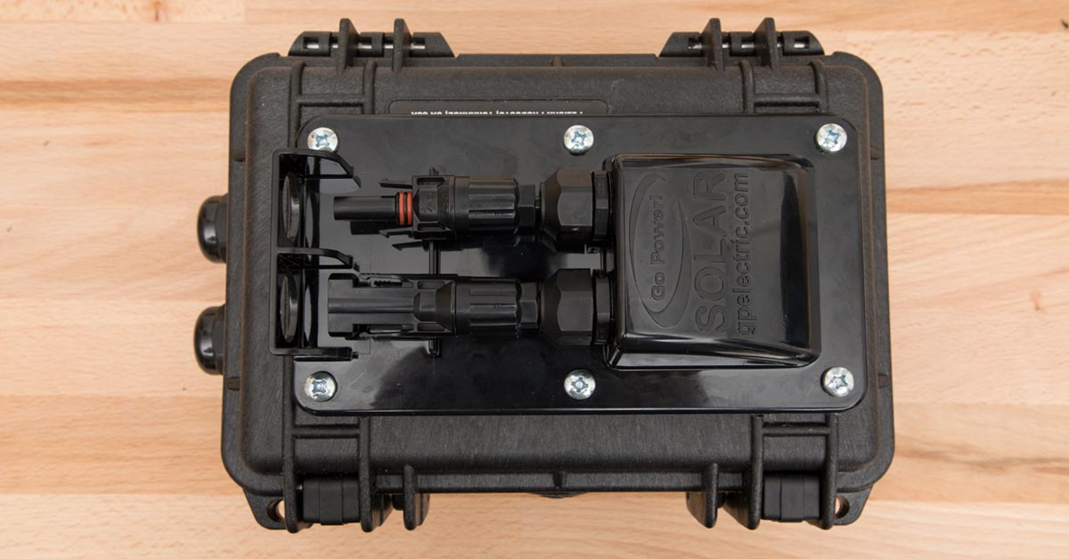 Building a Solar Junction Box from a Pelican Case for Goal Zero Solar Panels