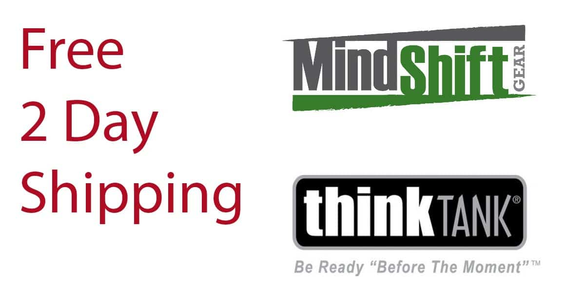 Last Minute Shopping! Free 2nd Day Shipping for Think Tank and MindShift + Gift Ideas