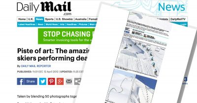 Skiing Feature on Daily Mail Website