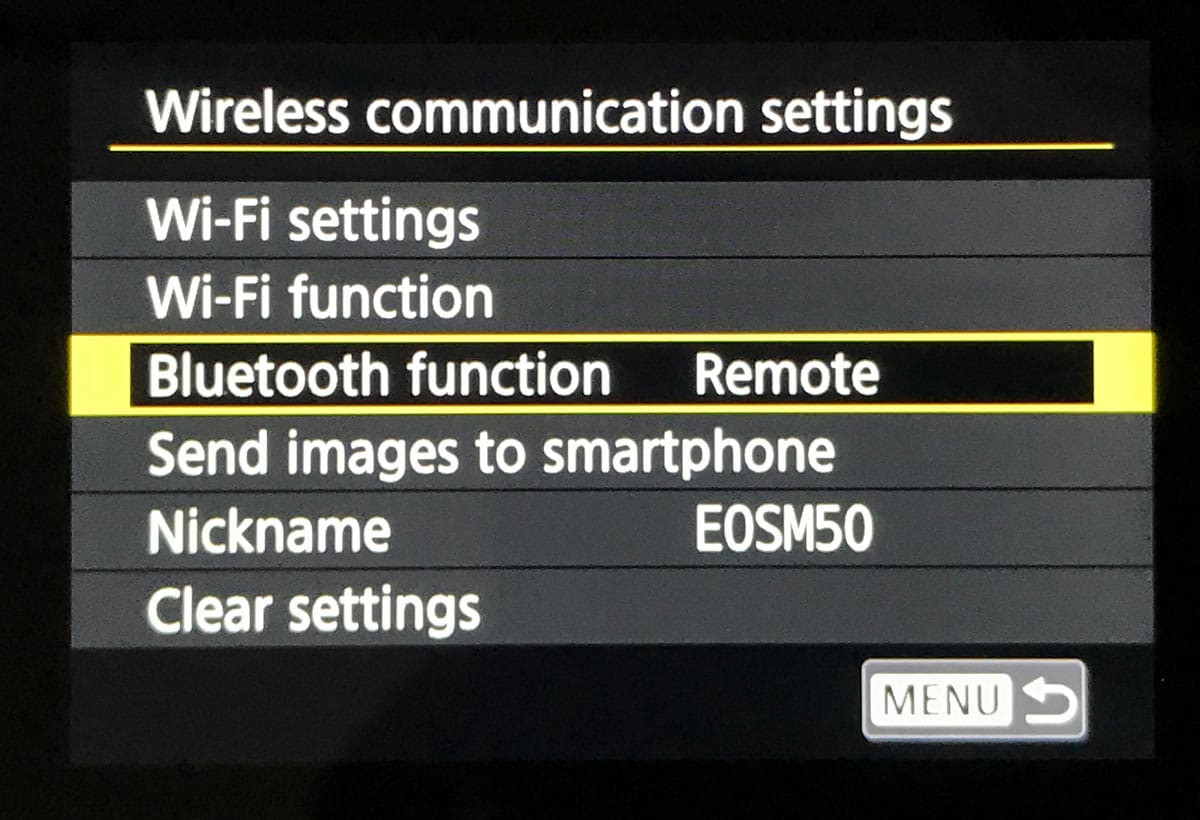 Canon EOS M50 and BR-E1 Bluetooth Remote