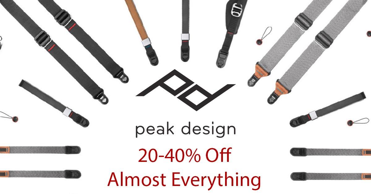 Peak Design Flash Sale: Save 20-40%