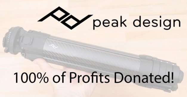 Peak Design Donating Profits From Travel Tripod to COVID-19
