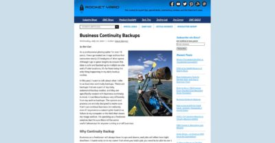 Read My Guest Post About Continuity Backups at OWC